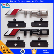 Chrome TRD Logo Car Front Grill Grille Rear Nameplate Emblem Badge