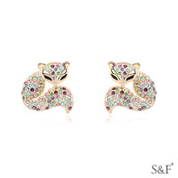 15035 gold plated girls one gram gold earrings designs jewelry