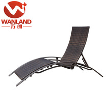 Outdoor sun bathing reclining lounge bed rattan cane wicker daybed