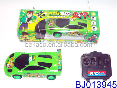 cheap 4ch rc car toy for kids small green ben 10 plastic remote control car