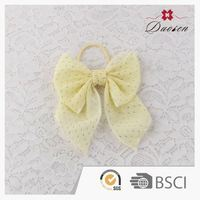 fabric hottest yellow flashing large hair bow hair tie