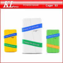 Cager S3 New Products Portable Rohs Power Bank Charger With Removable Band Sporty Style
