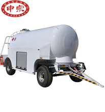 5000 liter transporter 4 wheel aviation kerosene fuel oil tank trailer