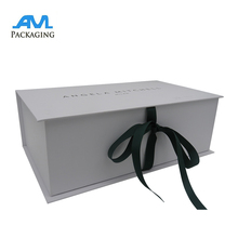Top quality cardboard material pantone packaging rigid sweater shoes gift box with ribbon