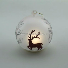 CGA hand-painted European style hanging glass candle holder led hanging light ball