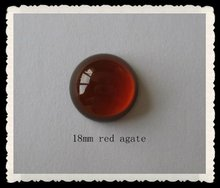 China Loose Gemstone 18mm Black Agate Round Cabochon