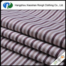 Stripe cotton and polyester woven jacquard mattress fabric