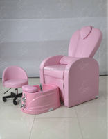 Hot Sell pink color pedicure chair for used beauty salon furniture