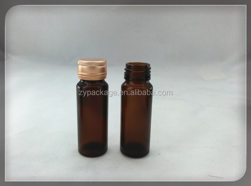 30ml amber oral liquid bottle with gold cap syrup glass bottle