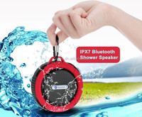 VOSOVO portable 2.1 hi-fi high bass multimedia active speaker for shower with usb/sd and fm