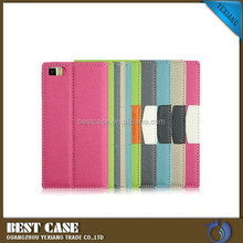 2015 New Arrival protective case For Xiaomi Mi3 flip leather case with card solt