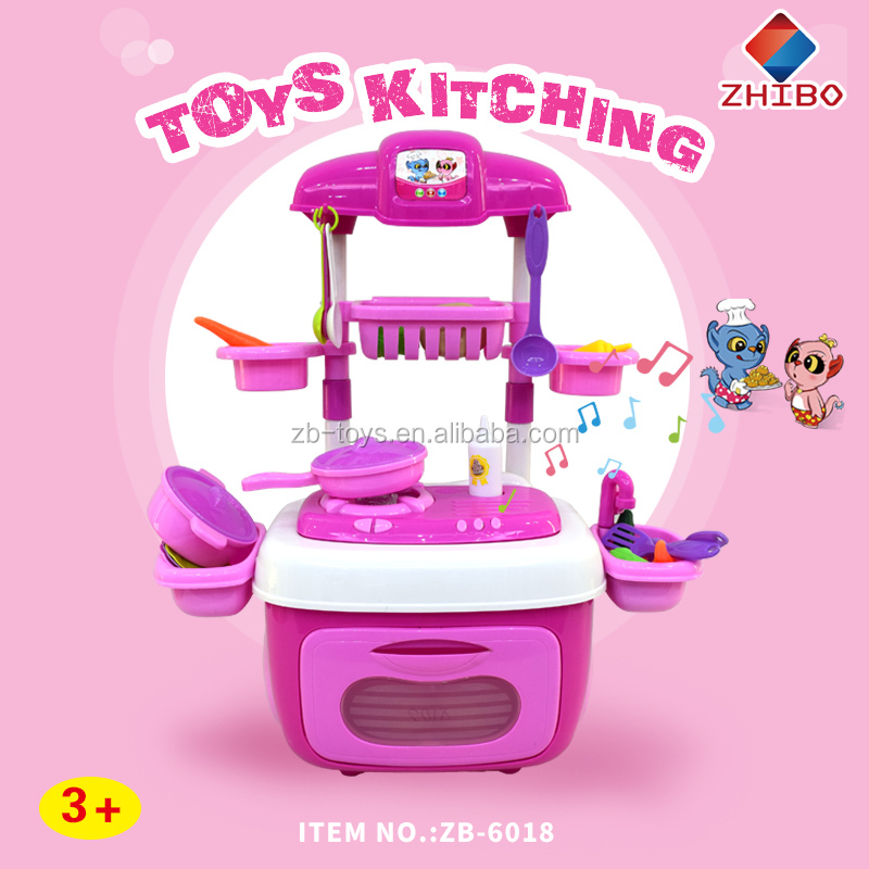 Band pulley removable kids paly kitchen toy sets