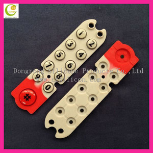 Colorful mixed silicone telephone spray coating keypads,with printing numbers silicone keypad