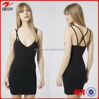 Wholesale women's clothing, strappy sexy bodycon tunic dresses for young ladies