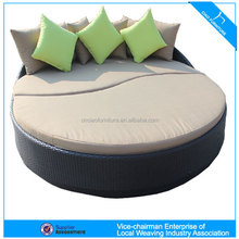 Balcony furniture rattan leisure sofa bed