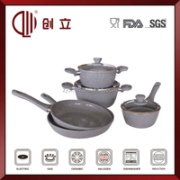 7PCS Forged Ceramic/Marble Coating Aluminum Non-stick smart Cookware Set