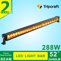 China supplier Top sale 288w 52 inch 12 volt led light bar for offroad snowmobiles