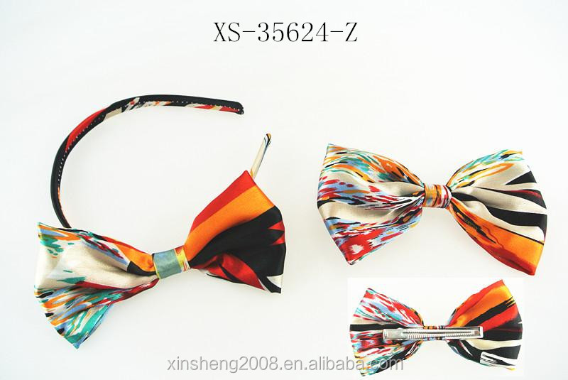 Fashion hair accessory big making bow headband and duck clip