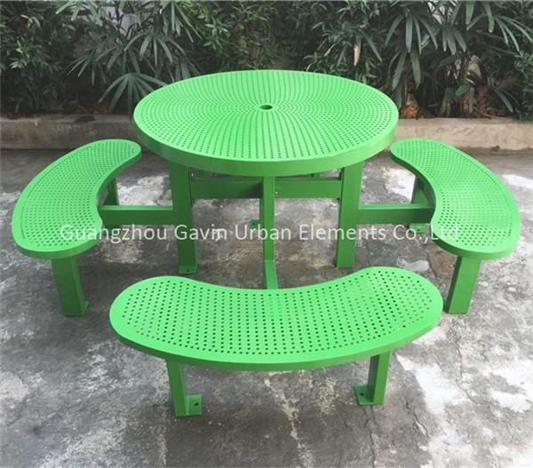 금속 피크닉 테이블 및 벤치 광주 야외 가구 공장-금속 테이블 ...
