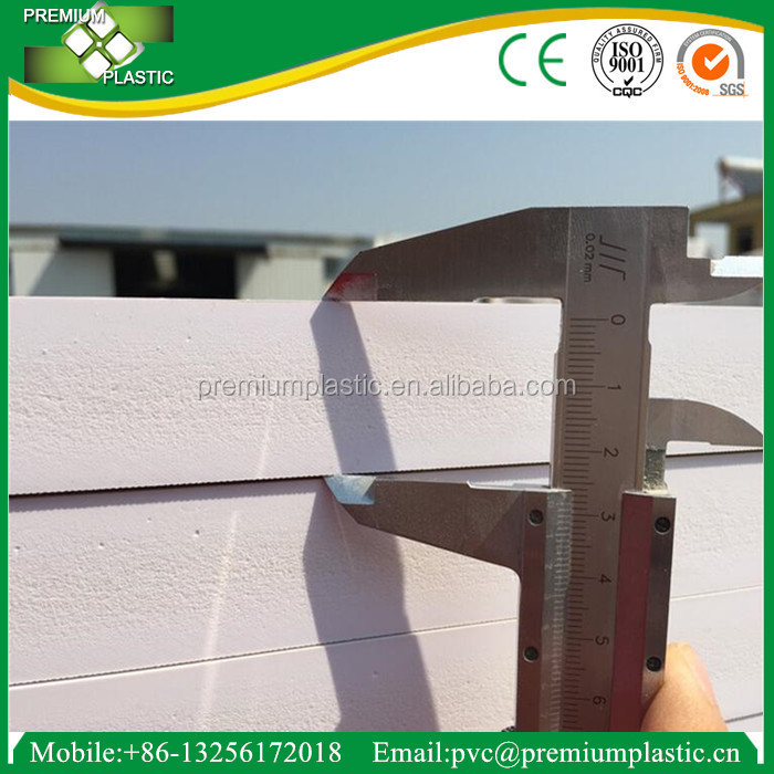 20mm waterproffing pvc rigid foam board manufacture in China