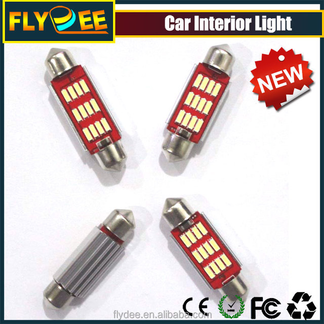 2017 T10 39mm 12smd 4014 car interior miniature led lamps used as festoon light dashboard indicator reding license decorate ligh