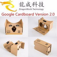 Dragonworth Paper DIY Cardboard Virtual Reality Mobile Phone 3D Glasses Magnetic VR Paper Glasses + T3+ Bluetooth Gamepad