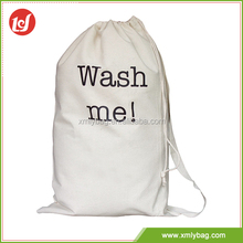 Most popular white calico drawstring bag cotton