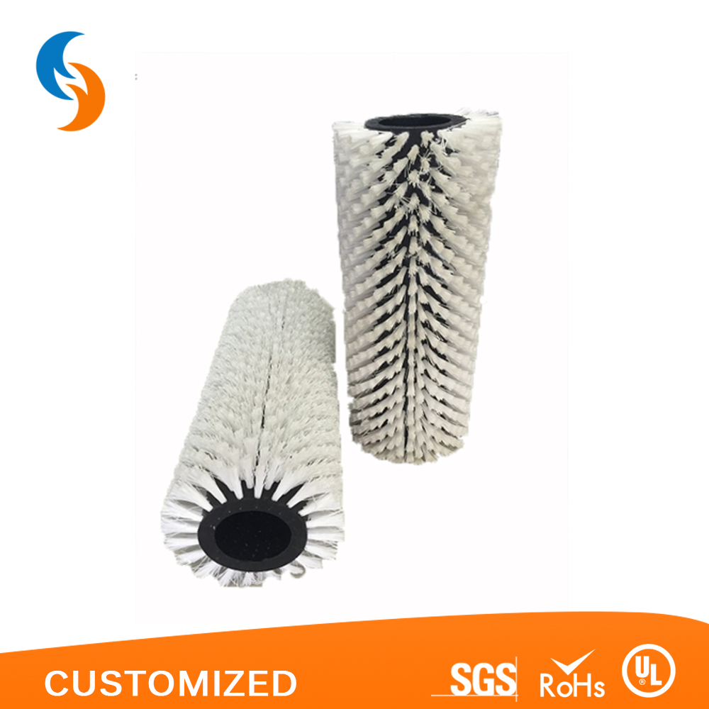Best quality rotary type glass cleaning cylinder brush roller