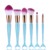 Natural Hair 6Pieces Colorful Mermaid Cosmetic Brush Set