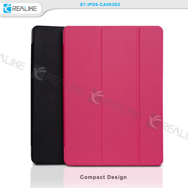 premium pu leather case for ipad air 2,hard pc back case with multi stands,trendy flip case for ipad