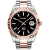 BLWRX diver rose gold watch black dial classic NH35 automatic sapphire glass