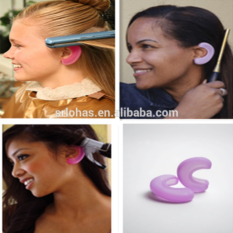 Heat Resistant Proof Hair styling silicone ear cover