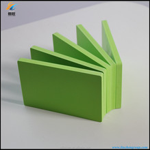 Green pvc decorative sheet celuka foam board with smooth surface