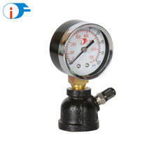 Brass Lower Mounting Gas Pressure Measurement Test Gauge Manometer