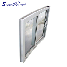 European standard Florida office curved sliding glass window with sub frame