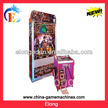 Spurts fire of gun game laser video shooting simulator game machine