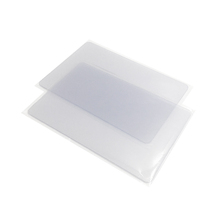 Standard blank printable transparent inkjet clear pvc plastic card
