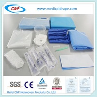 Transparent Adhesive 2 Pocket Surgical Drape Pack
