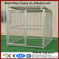 Heavy duty 6'x8'x6' small animals houses waterproof pug cages galvanized metal welded dog run kennels