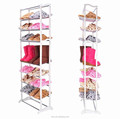 Latest cheap living room pull out conrer metal stainless steel shoe rack