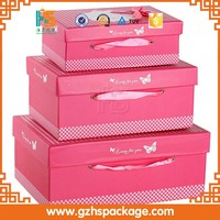 custom baby shoe box Leather shoe box Flip the paper shoebox