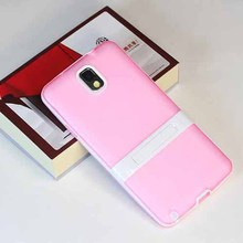 High quality Candy color belt bracket Cases for Samsung Note3,tpu holder phone case
