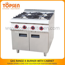 Kitchen equipment Universal Gas Cooker with 4 Burners,Good Italian Gas Cooker for hotel