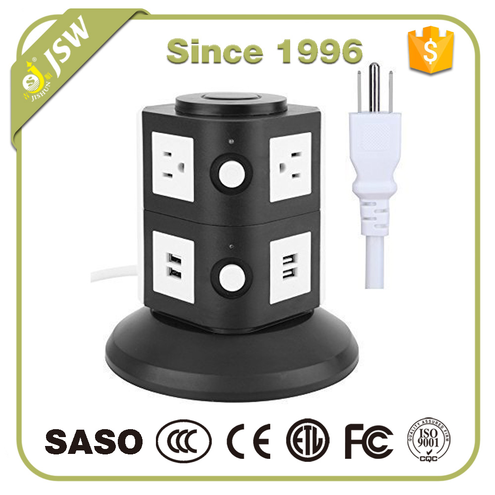 110v to 220v electrical ac power strip usb adapter extension cord usa type plug and switched sockets outlet with usb