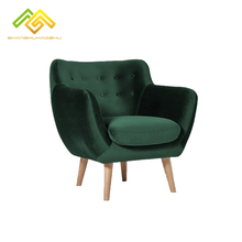Simple living room <strong>furniture</strong> 1 seat sofa velvet modern single chair