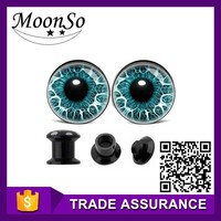 wholesale eye ear plugs piercing surgical steel fashion body jewelry K1E