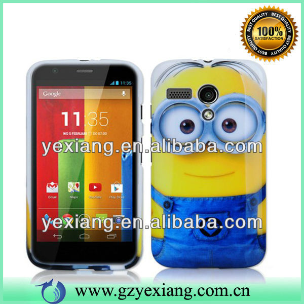 Hard Plastic Customized Cell Phone Cover For Moto G XT1032
