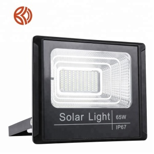 Good price light sensor quality material waterproof IP66 security led solar flood light for street lighting