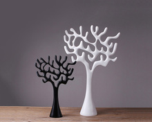 Creative 2 colors resin lucky tree resin carved home decoration for gift