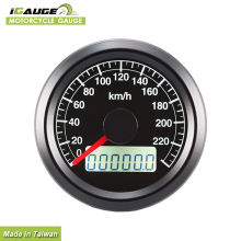 48mm Black Face Motorcycle Meter Speedometer